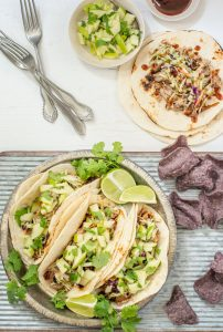 BBQ Pulled Pork Taco Recipe with Apple Salsa