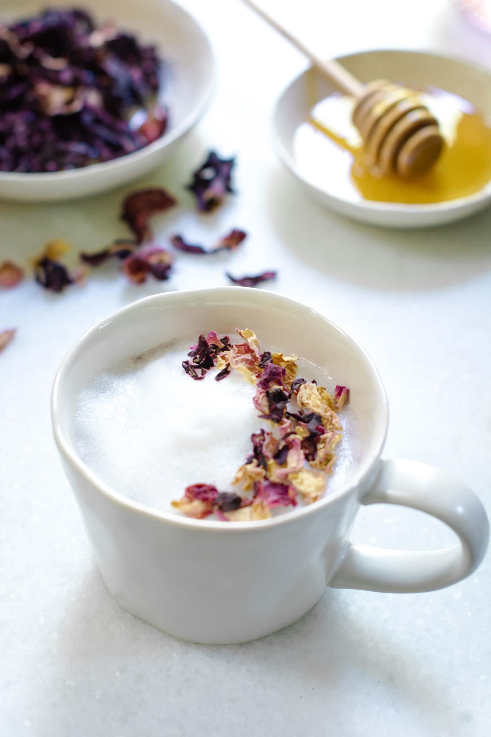 Hibiscus Flower Tea Latte Recipe