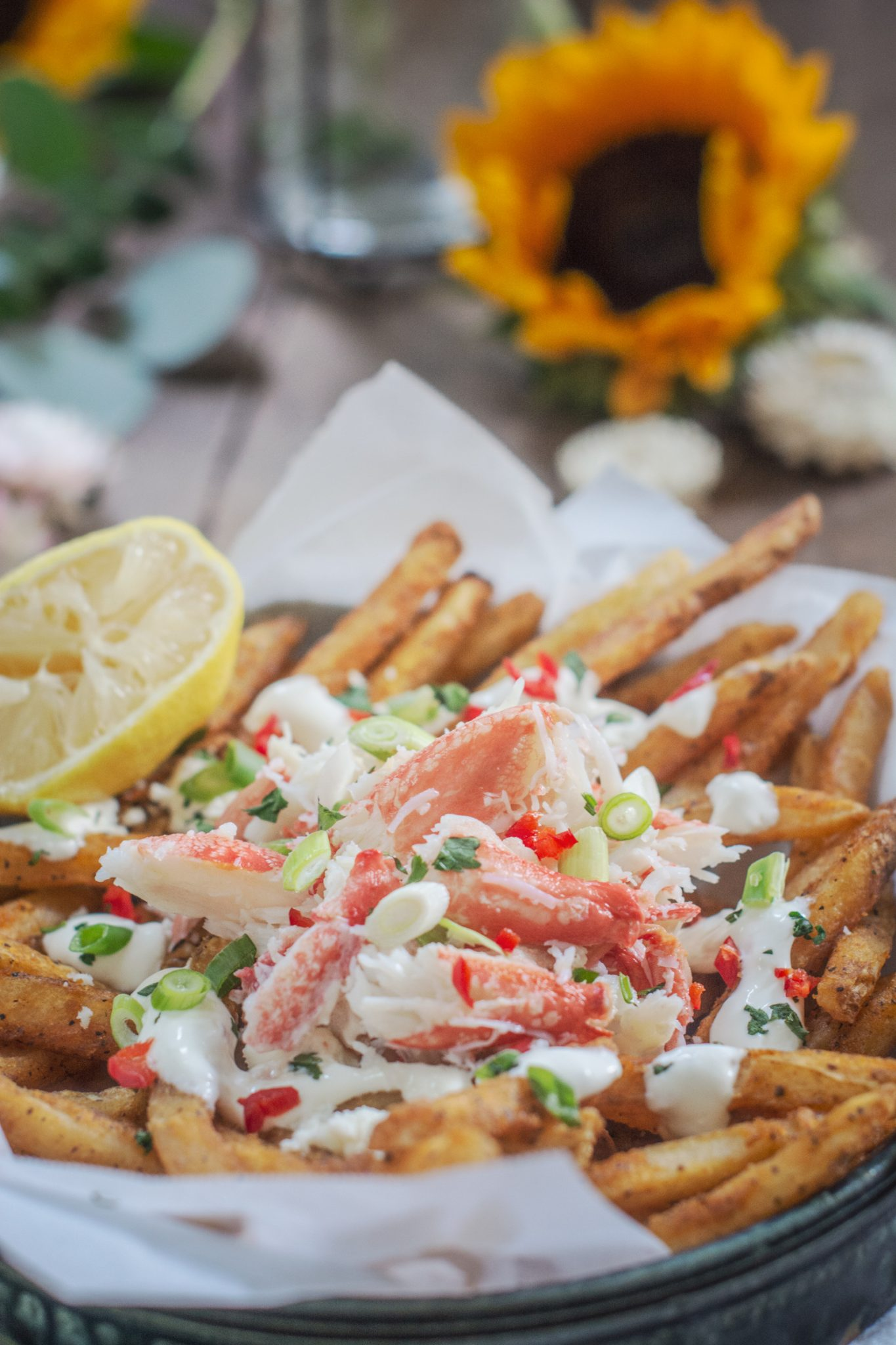 Snow Crab Legs: Loaded Crab Fries Recipe