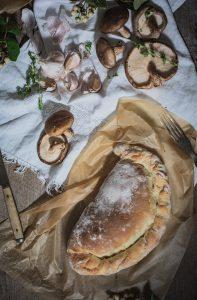 Mushrooms, Garlic and Potato Calzone Recipe {Vegan}