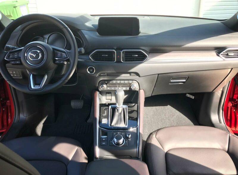 Interior front of Mazda CX-5