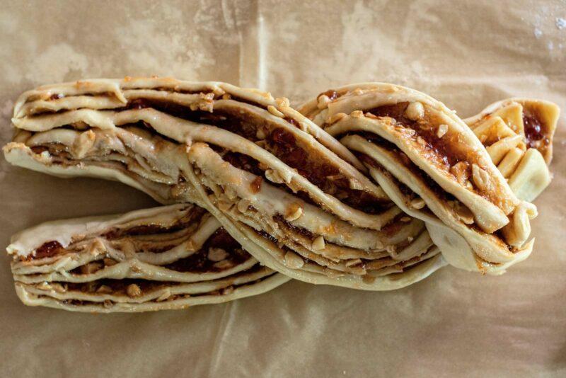 Twisting filled dough