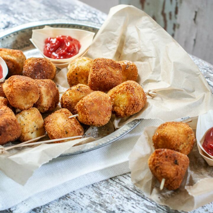 Easy to make vegetable and potato nuggets, the perfect kid-friendly snack