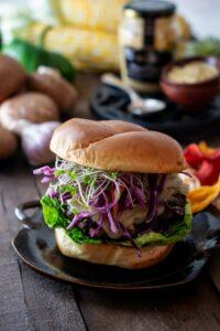 Dijon Portobello Mushroom Burger Recipe