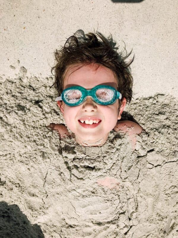 Buried in the sand fun