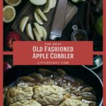 The best Old Fashioned Apple Cobbler