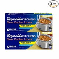 Reynolds Kitchens Premium Slow Cooker Liners, 6 Count, Pack of 2