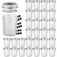 Mason Jars 6 OZ, VERONES 30 PACK 6oz Mason jars Canning Jars Jelly Jars With Lids, Ideal for Jam, Honey, Wedding Favors, Shower Favors, Baby Foods