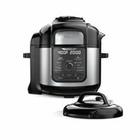 Ninja FD401 Foodi 8-qt. 9-in-1 Deluxe XL Cooker & Air Fryer-Stainless Steel Pressure Cooker, 8-Quart,