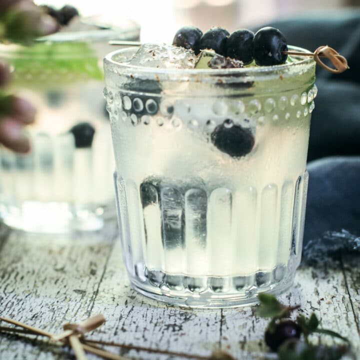 Easy to make Blueberry Buck made with vodka and ginger beer