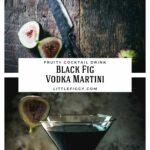 Fig Martini Halloween Cocktail