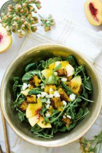 Farmers Market Arugula and Peach Salad Recipe