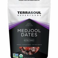 Terrasoul Superfoods Organic Medjool Dates, 2 Lbs - Soft Chewy Texture   Sweet Caramel Flavor   Farm Fresh