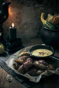 Frightening Fingerlings – Bacon Wrapped Potatoes