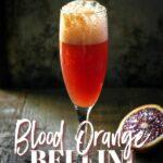 Blood orange Belinni recipe with Prosecco