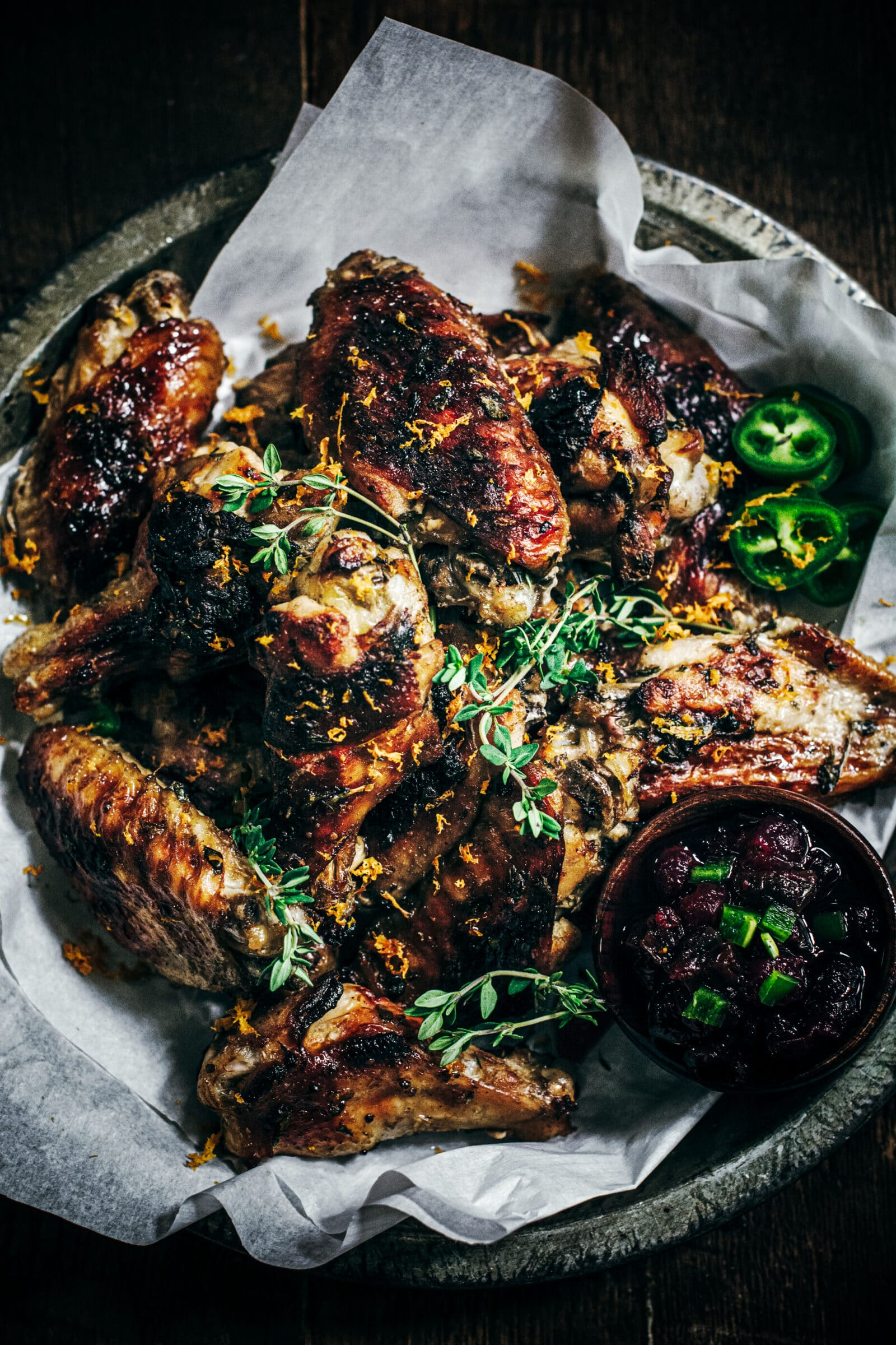 Baked Chicken Wings Recipe with Apple Butter