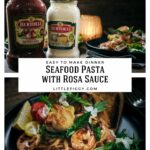 Easy to make Seafood with Linguine Pasta and Rosa Sauce.