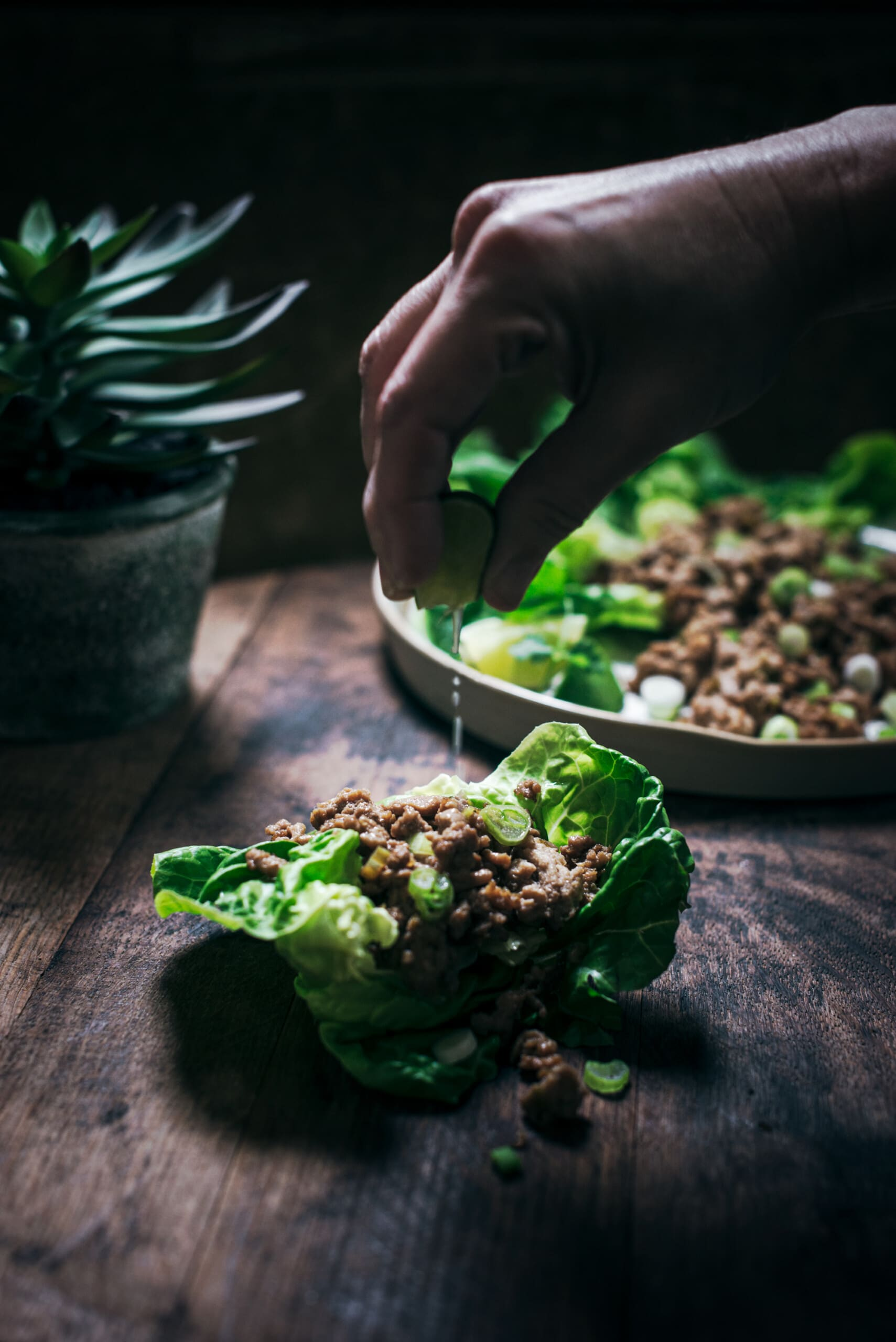 Quick and Easy Chicken Lettuce Wraps