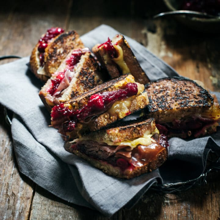 Grilled Gouda Prosciutto and Balsamic Cranberry Chutney