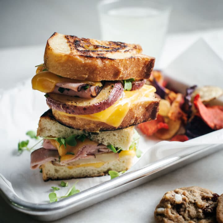 Fried Potatoes on a grilled sandwich