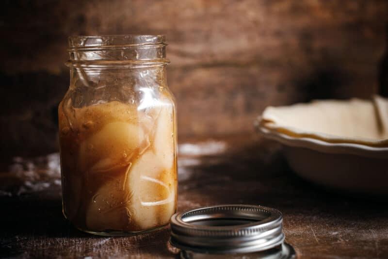 Sharing Jar of Apple Pie Filling