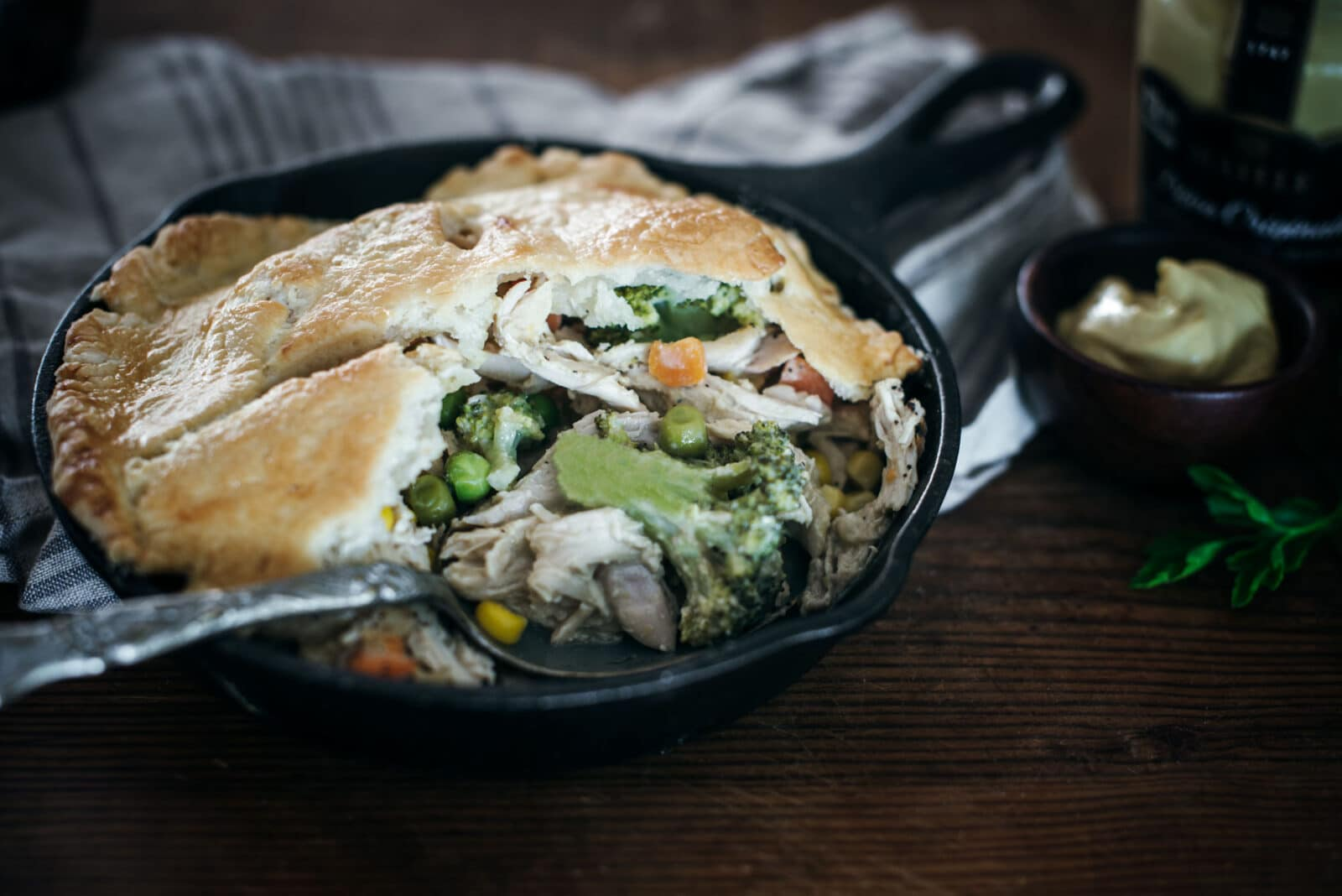 Serving southern chicken pot pie recipe