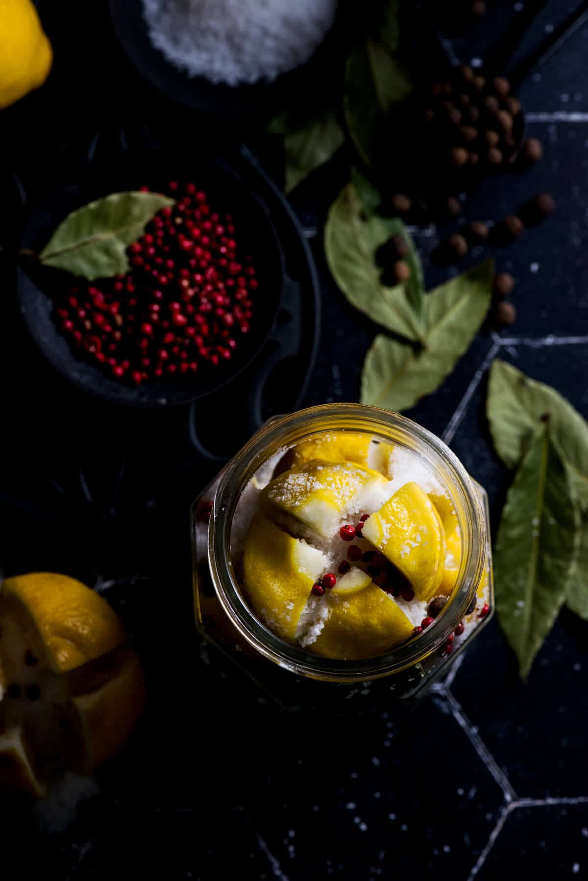 Preserved lemons in jar