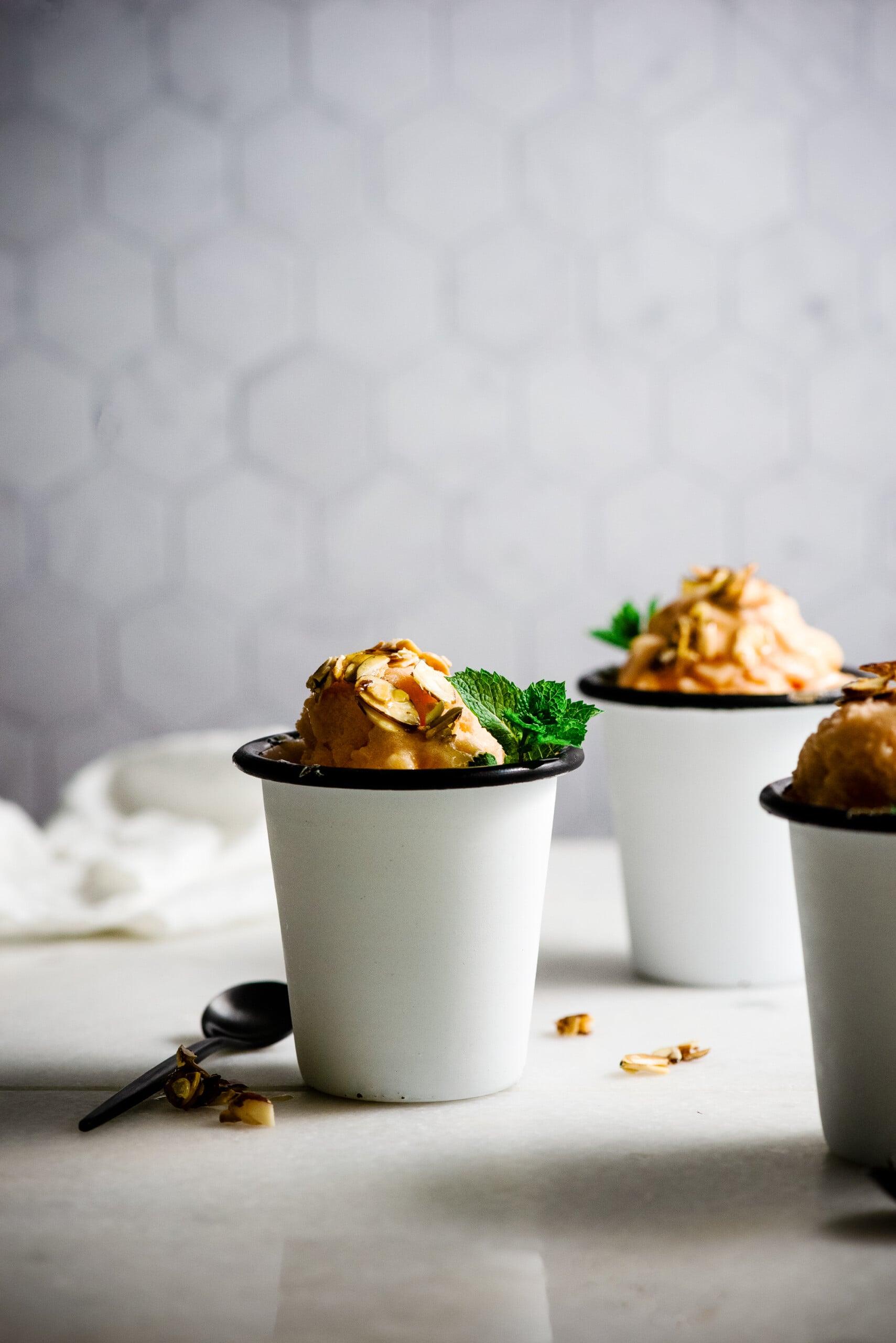 Easy to Make Dessert: Honey and Peach Sorbet Recipe
