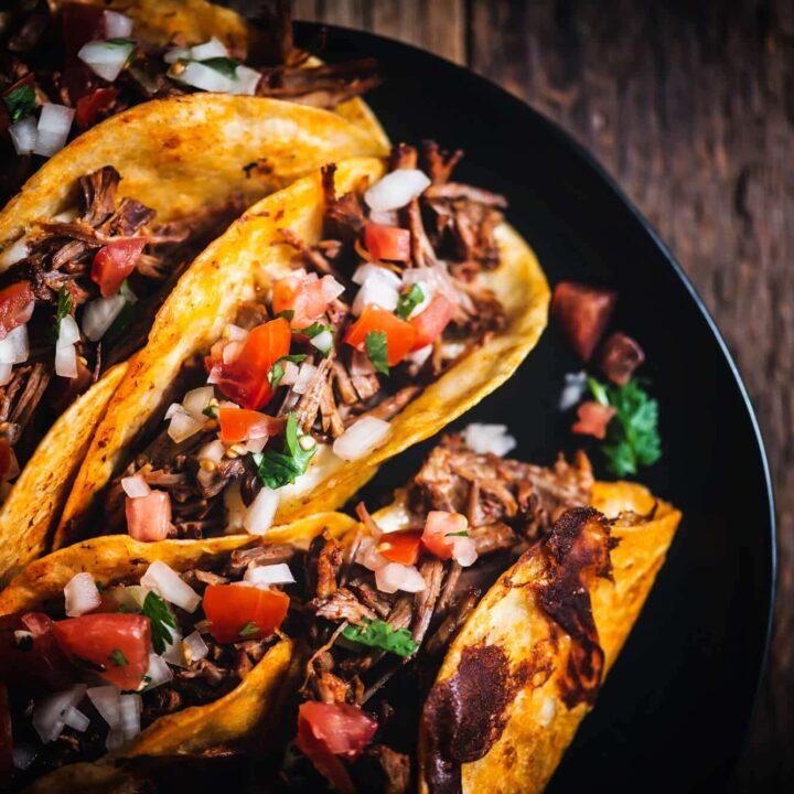 stuffed beef tacos