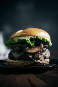 Easy Grilled Recipes: The Best Mushroom Swiss Burger